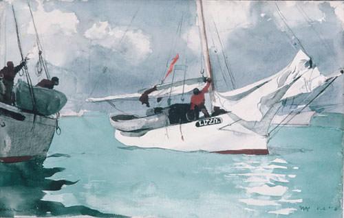 Fishing Boats Key West. Winslow Homer