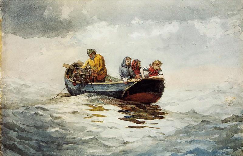 Crab Fishing. Winslow Homer
