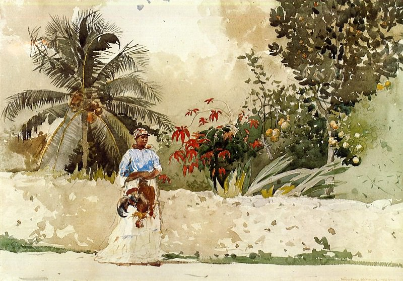 On the Way to the Bahamas. Winslow Homer