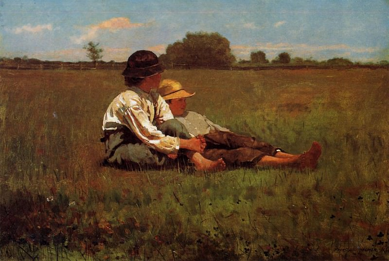 Boys in a Pasture. Winslow Homer