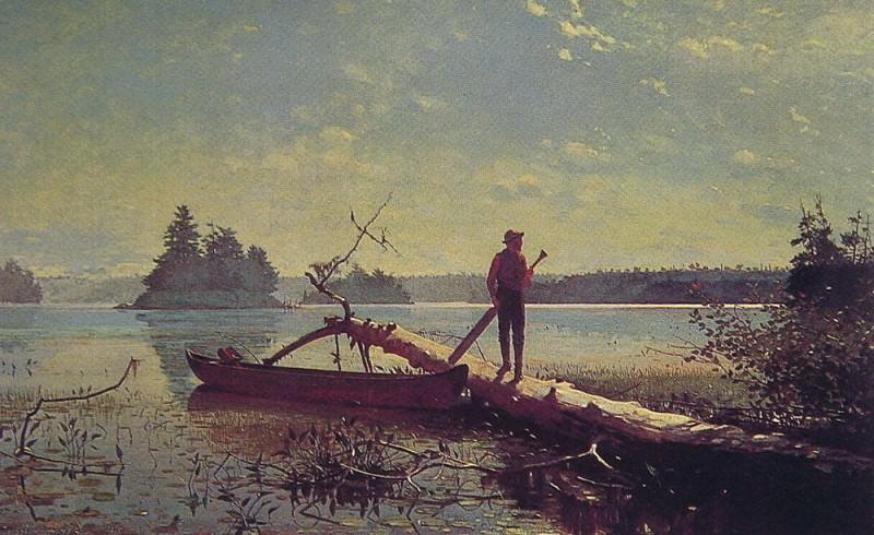 An Adirondack Lake. Winslow Homer
