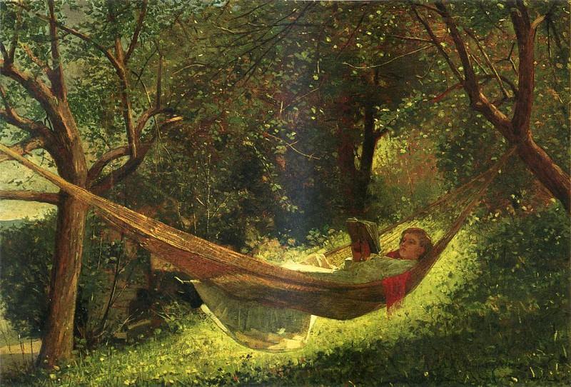 Girl in a Hammock. Winslow Homer