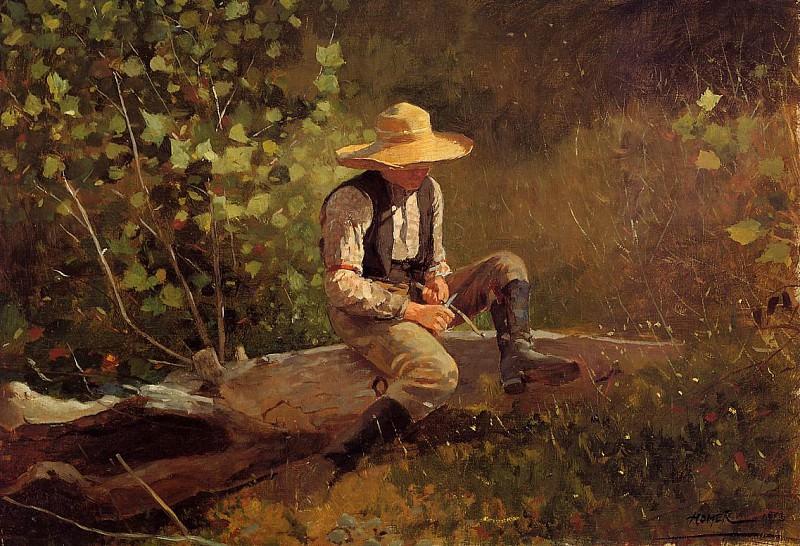 The Whittling Boy. Winslow Homer