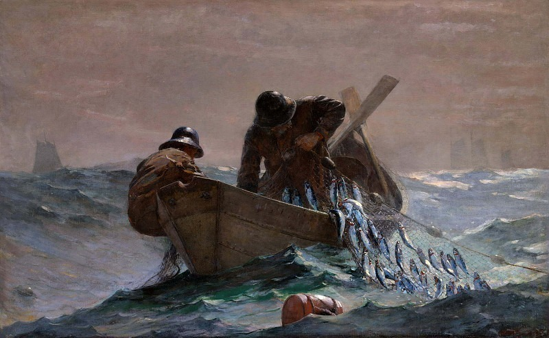 The Herring Net. Winslow Homer