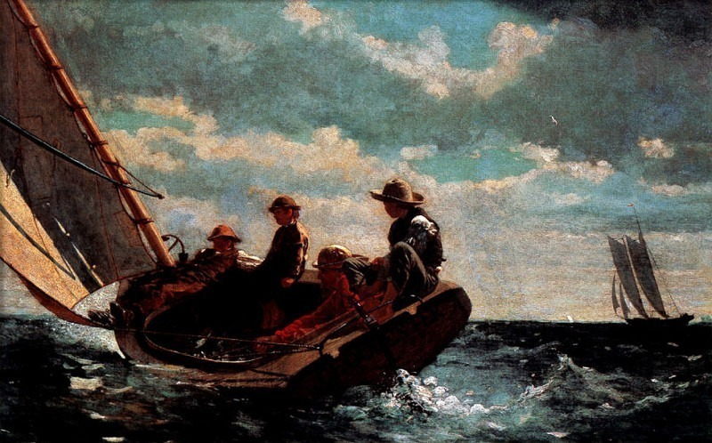 zFox SWD WH 17 Breezing Up 1876. Winslow Homer