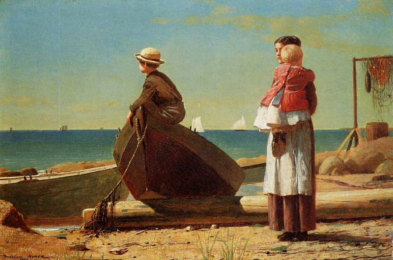 Dad-s Coming!. Winslow Homer
