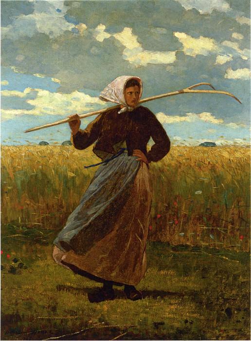 The Return of the Gleaner. Winslow Homer