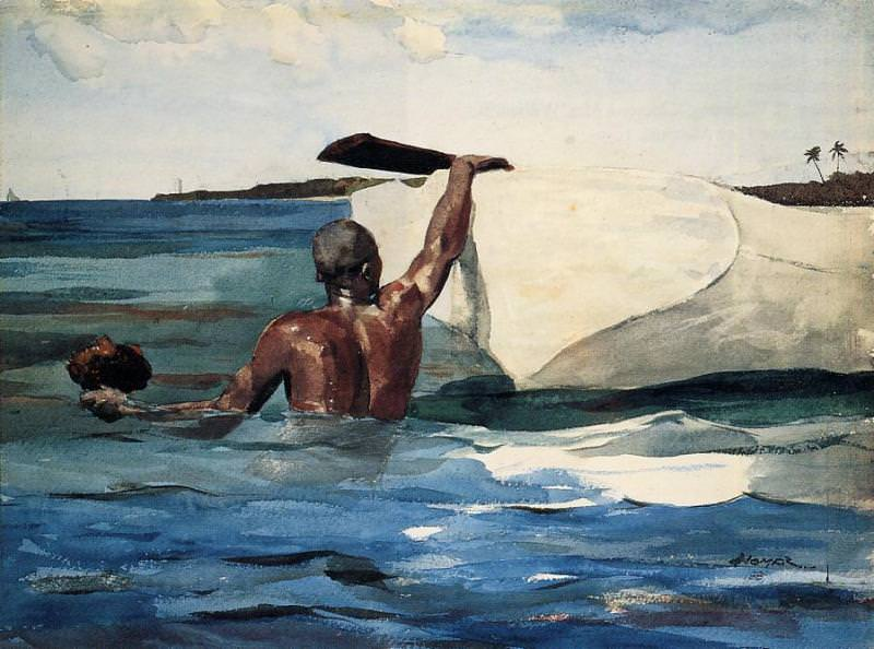 The Sponge Diver. Winslow Homer