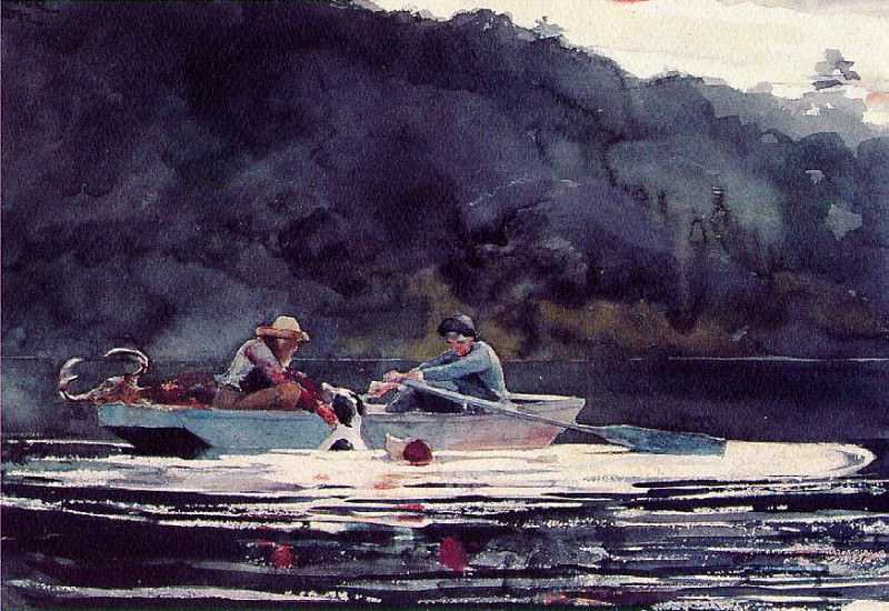 The end of the hunt, 1892, Watercolor and graphite, 38. Winslow Homer