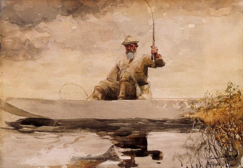 Fishing in the Adirondacks. Winslow Homer