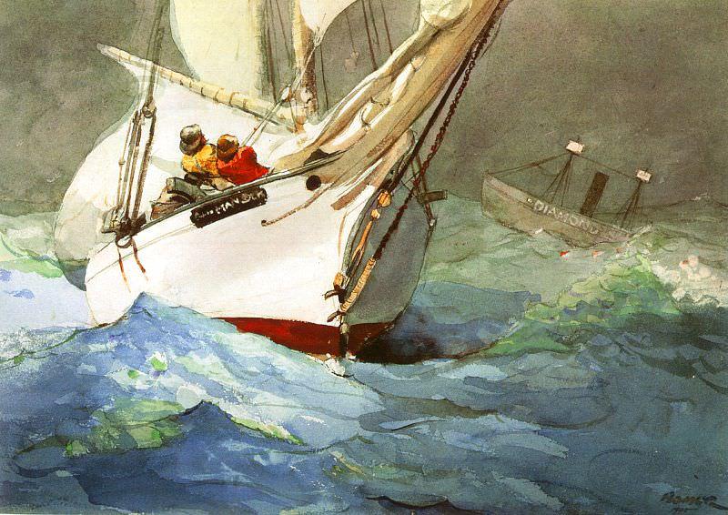 Diamond Shoal, 1905, watercolor, IBM Corporation. Winslow Homer