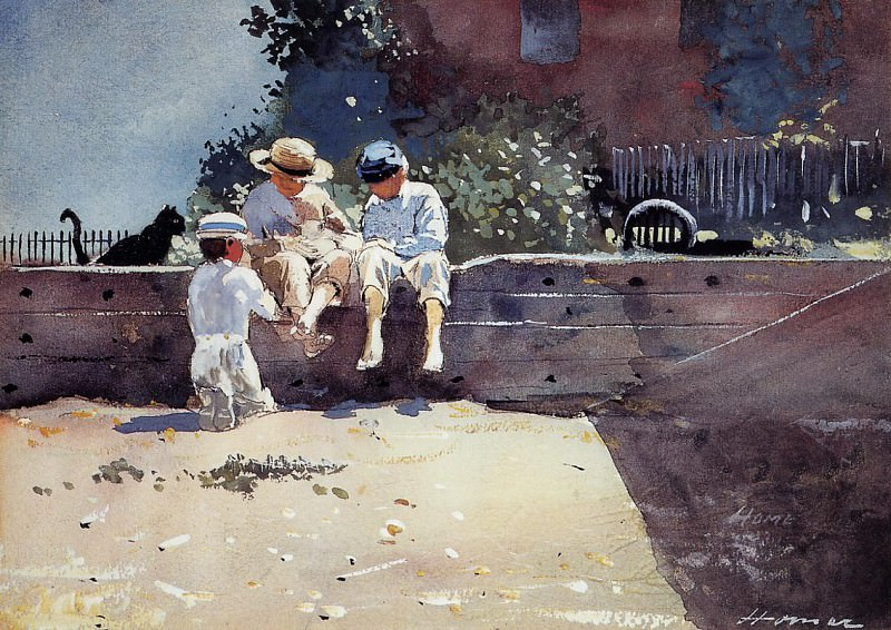 Boys and Kitten. Winslow Homer