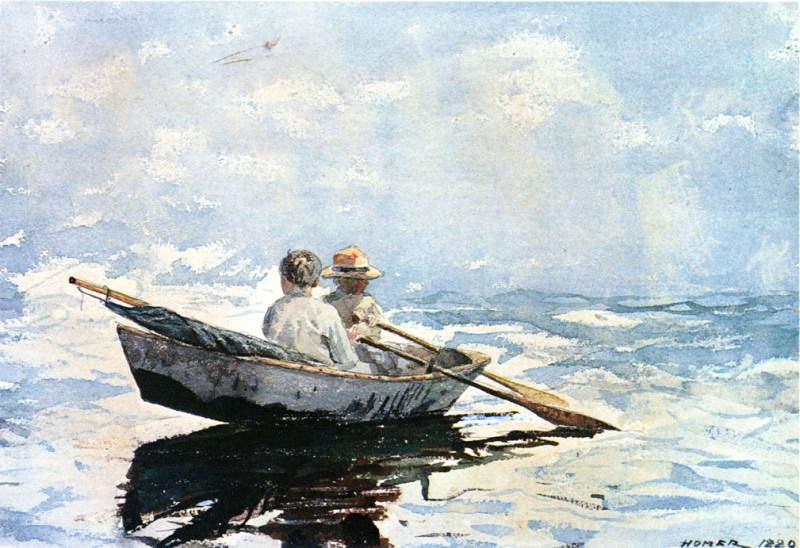 Rowboat. Winslow Homer