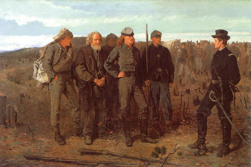 Prisoners from the Front, 1866, oil on canvas, Metropo. Winslow Homer