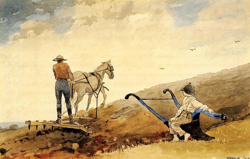Harrowing. Winslow Homer