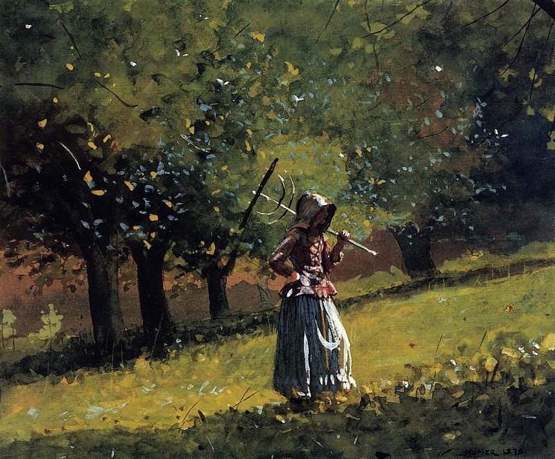Девушка с сенными граблями. Уинслоу Хомер