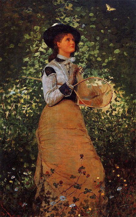The Butterfly Girl. Winslow Homer
