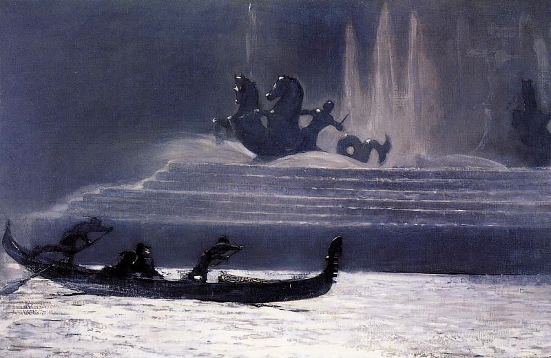 The Fountains at Night World-s Columbian Exposition. Winslow Homer