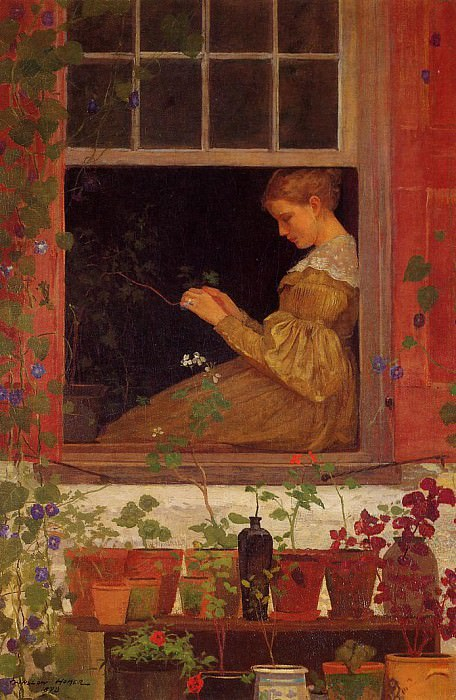 Morning Glories. Winslow Homer