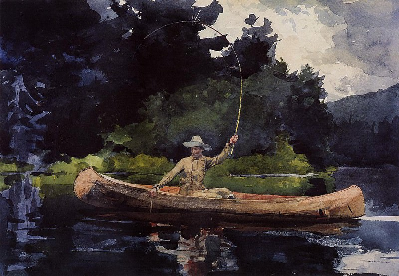 Playing Him aka The North Woods. Winslow Homer