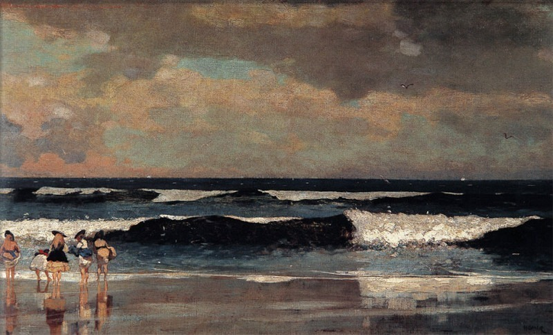 zFox SWD WH 09 On The Beach 1870. Winslow Homer