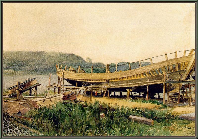 Shipbuilding-Ipswich. Winslow Homer