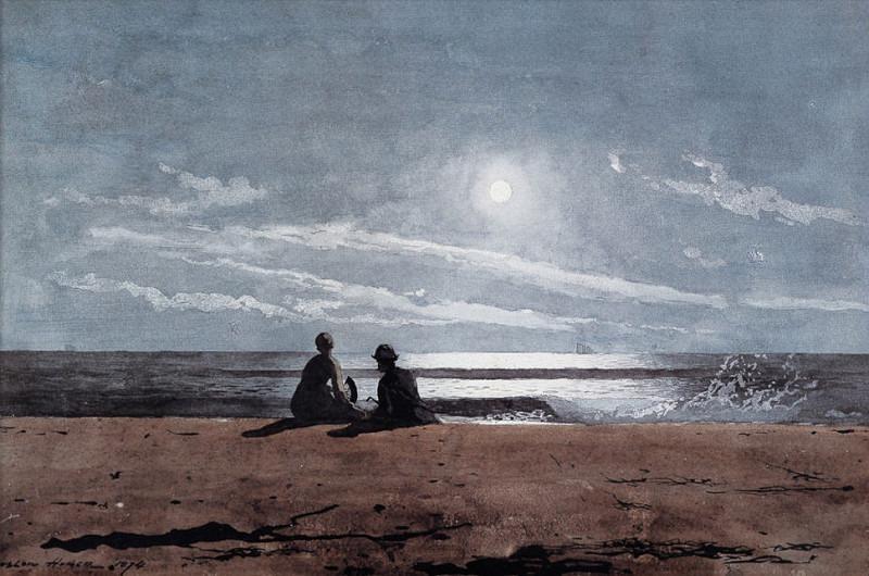 zFox SWD WH 14 Moonlight 1874. Winslow Homer