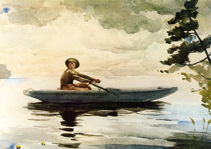 The Boatsman. Winslow Homer