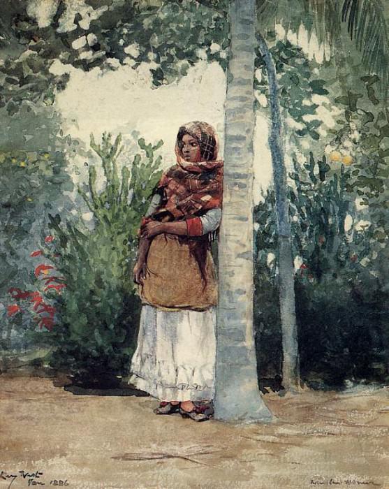 Under a Palm Tree. Winslow Homer