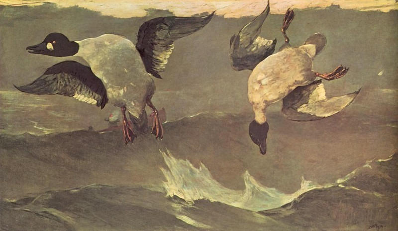 The Double(1909) Po Amp 042. Winslow Homer