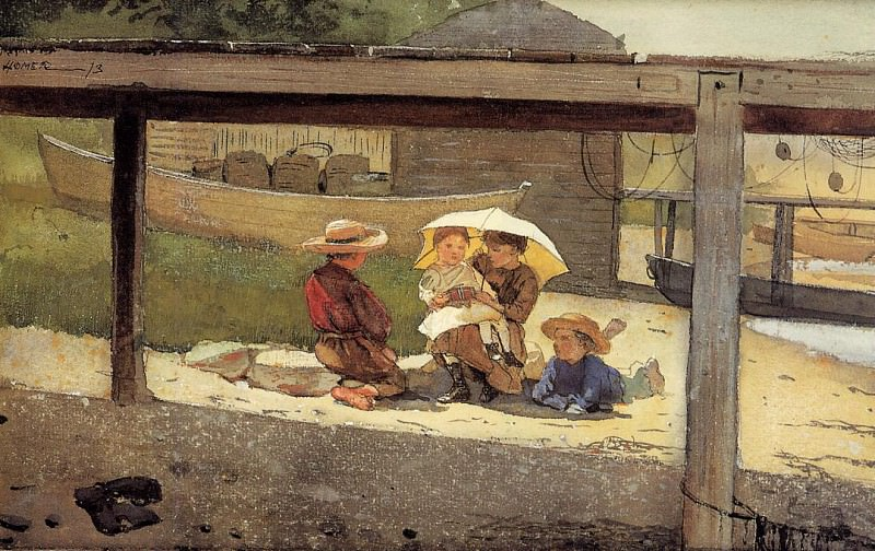 In Charge of Baby. Winslow Homer