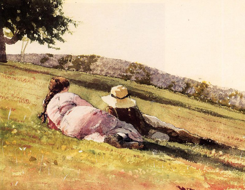 On the Hill. Winslow Homer