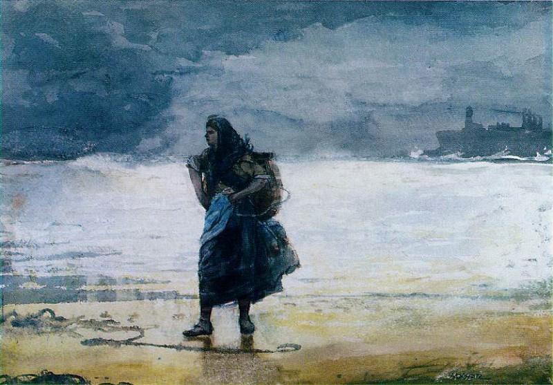 Рыбачка, ок.1882. Уинслоу Хомер