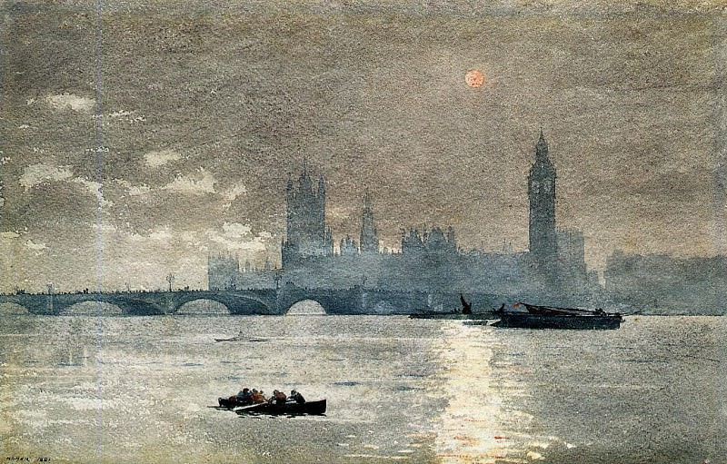 The Houses of Parliament. Winslow Homer