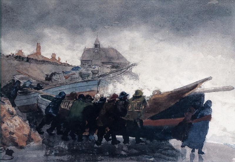 Наблюдая за бурей, 1881. Уинслоу Хомер
