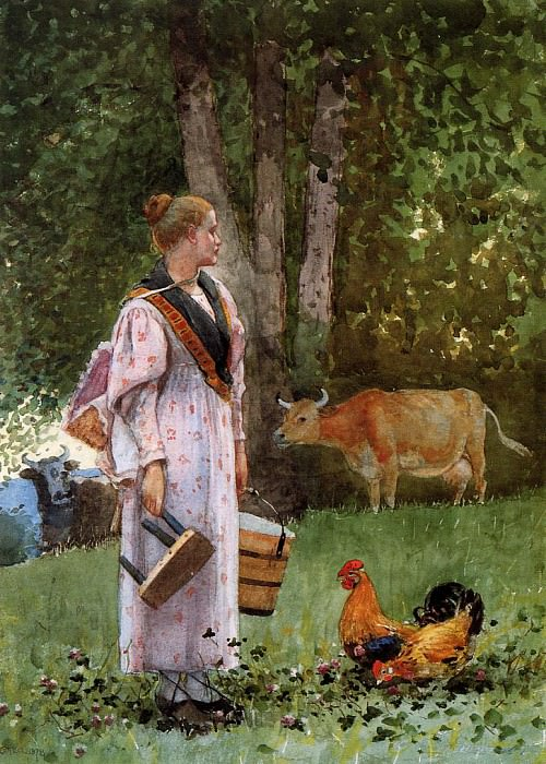 The Milk Maid. Winslow Homer