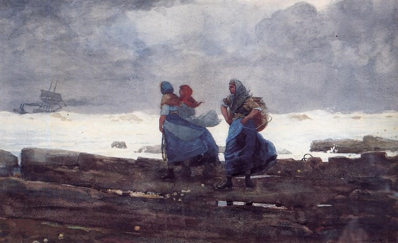 Fisherwives. Winslow Homer