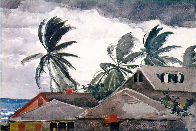 Ураган, Багамы, 1898-99. Уинслоу Хомер