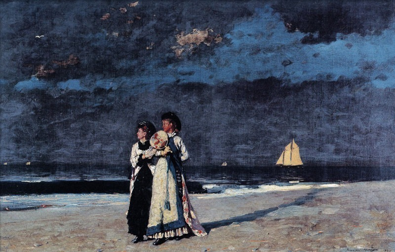 zFox SWD WH 18 Promenade On The Beach 1880. Winslow Homer