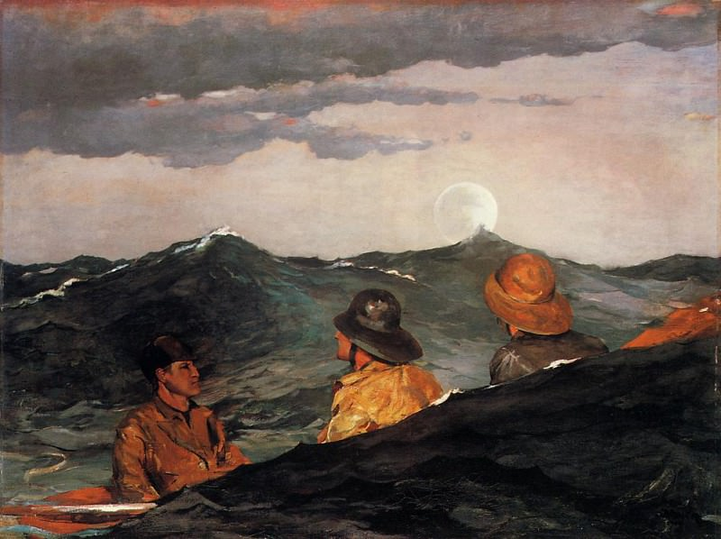 Kissing the Moon. Winslow Homer