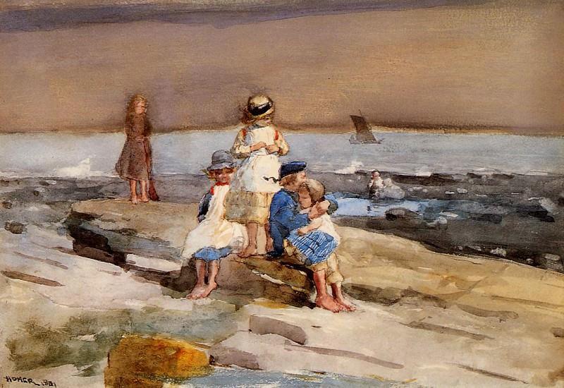 Children on the Beach. Winslow Homer