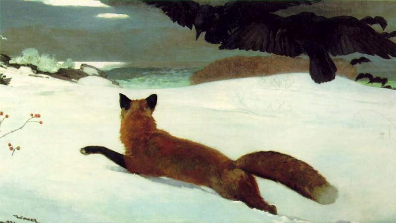 THE FOX HUNT 1893 PENSYLVANIA ACADEMY OF THE FINE ARTS. Winslow Homer