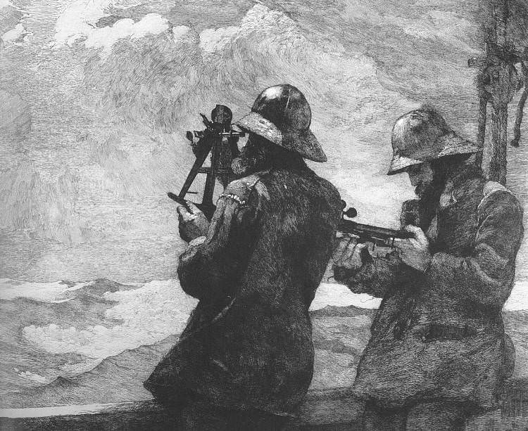 Eight Bells, 1887, etching, National Gallery of Art, W. Winslow Homer