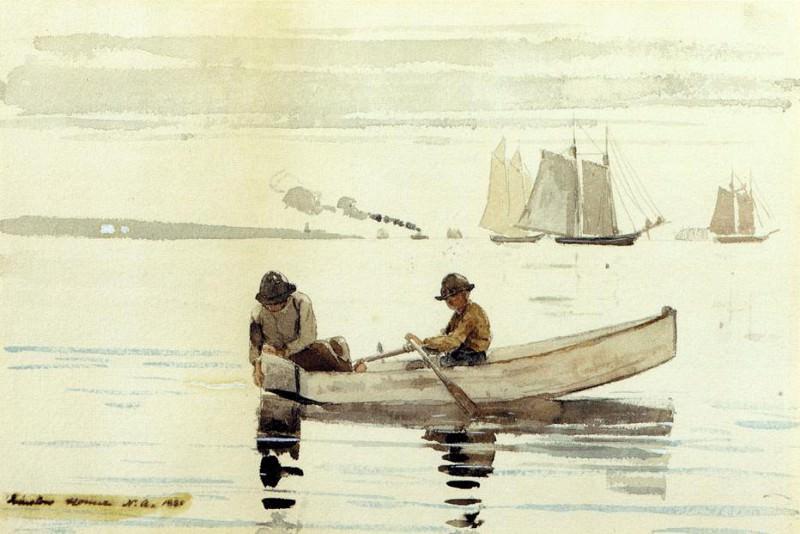 Boys Fishing Gloucester Harbor. Winslow Homer