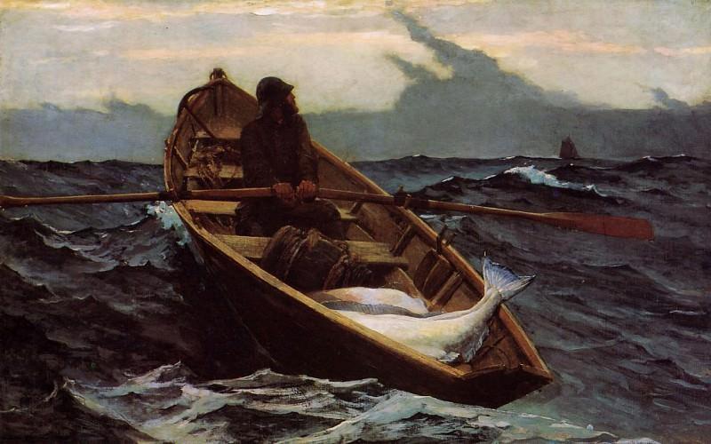 The Fog Warning. Winslow Homer