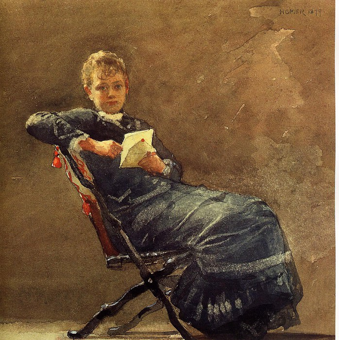 Girl Seated. Winslow Homer