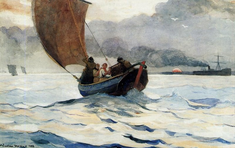 Returning Fishing Boats. Winslow Homer