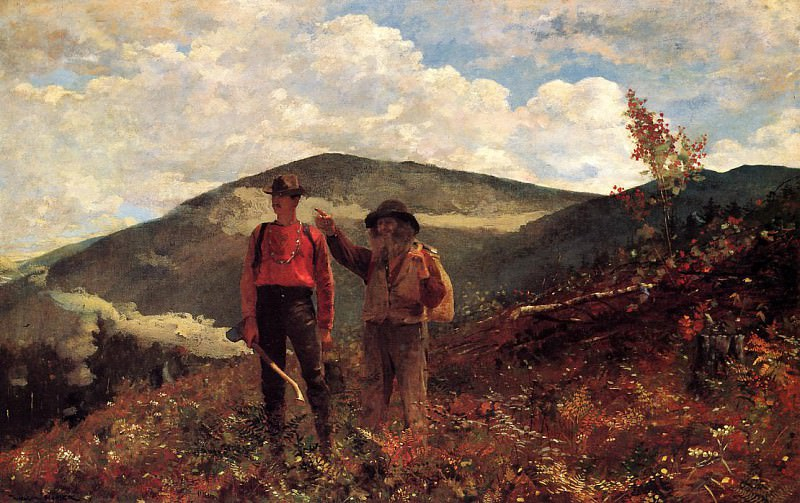 The Two Guides. Winslow Homer