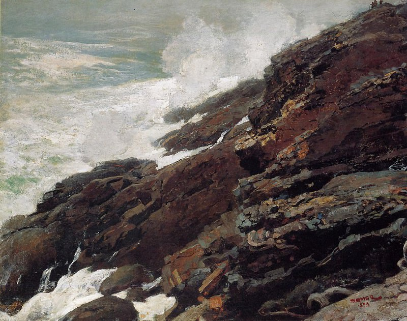 High Cliff Coast of Maine. Winslow Homer