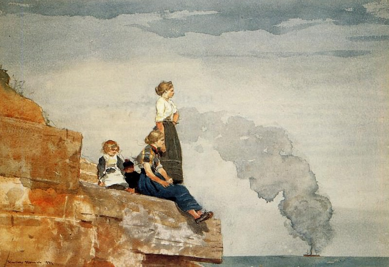 Fisherman-s Family aka The Lookout. Winslow Homer